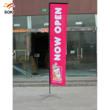 Trade show Exhibition Display Fabric Feather Teardrop Rectangle Advertsing 4.5m Flag Fly Banner Stand Pole