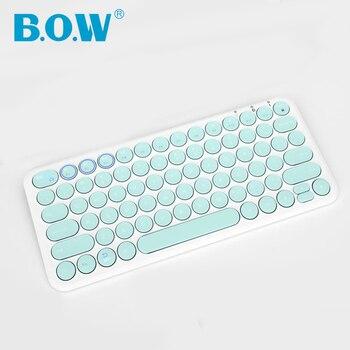 B.O.W Multi-Dispositivo di Tastiera Bluetooth-Finestre, Mac, Android, iPad, iPhone, apple TV Compatibile-Facile-Interruttore fino a 3 Dispositivi