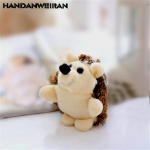 1PCS Cute Plush Hedgehog Toy Small Pendant Creative Mini Soft Stuffed Animal Toys Birthday Girls Playmate Gift 10CM HANDANWEIRAN