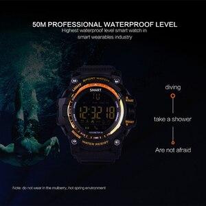 Image 5 - Bluetooth Clock EX16 Smart Watch Notification Remote Control Pedometer Sport Watch IP67 Waterproof Mens Wristwatch