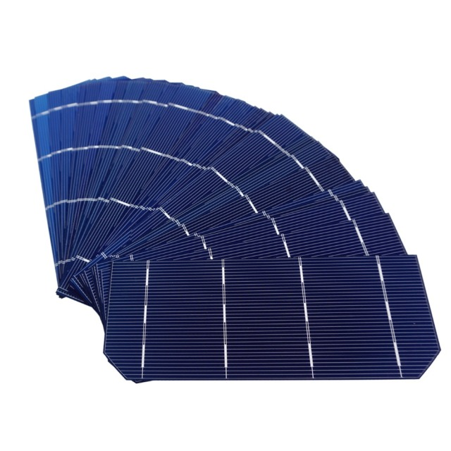 Hot 80pcs 156*58.5mm Mono Solar Cell Kits Solar Photovoltaic Mono Monocrystalline Silicon Solar Cell 6×2 for 144W Solar Panel