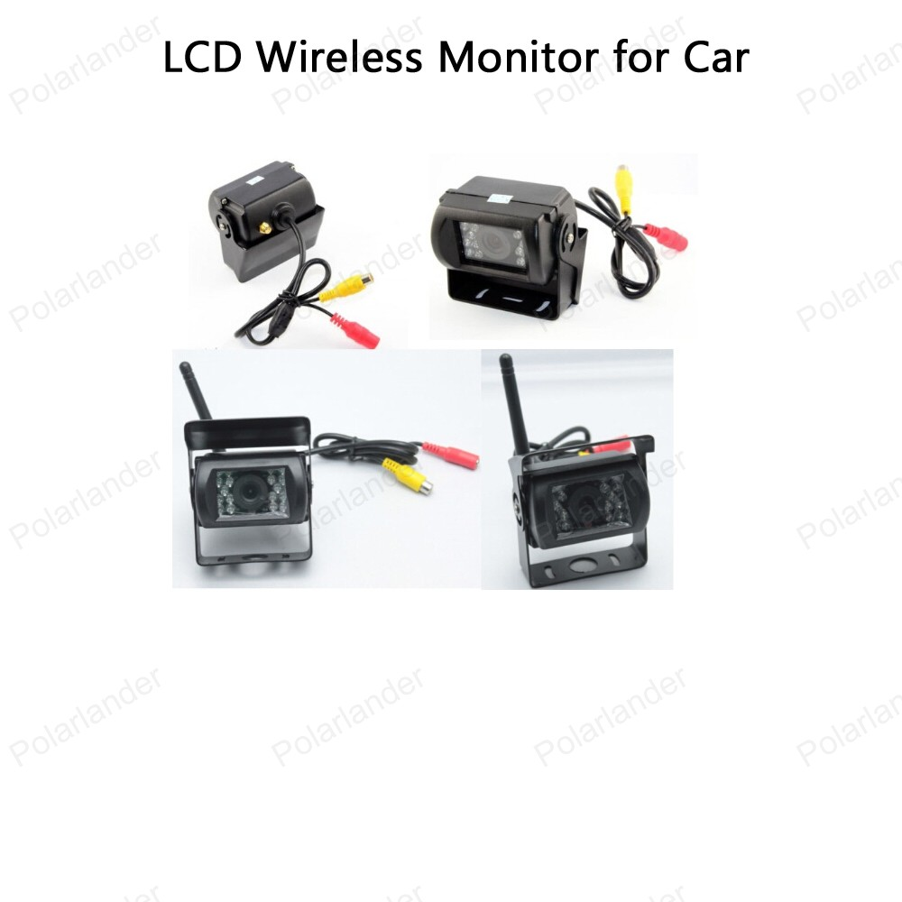12 24V Car Truck 5 inch TFT LCD Wireless Monitor Built in Transmitter for Car Rear View Camera Parking KIT 2CH Video Input