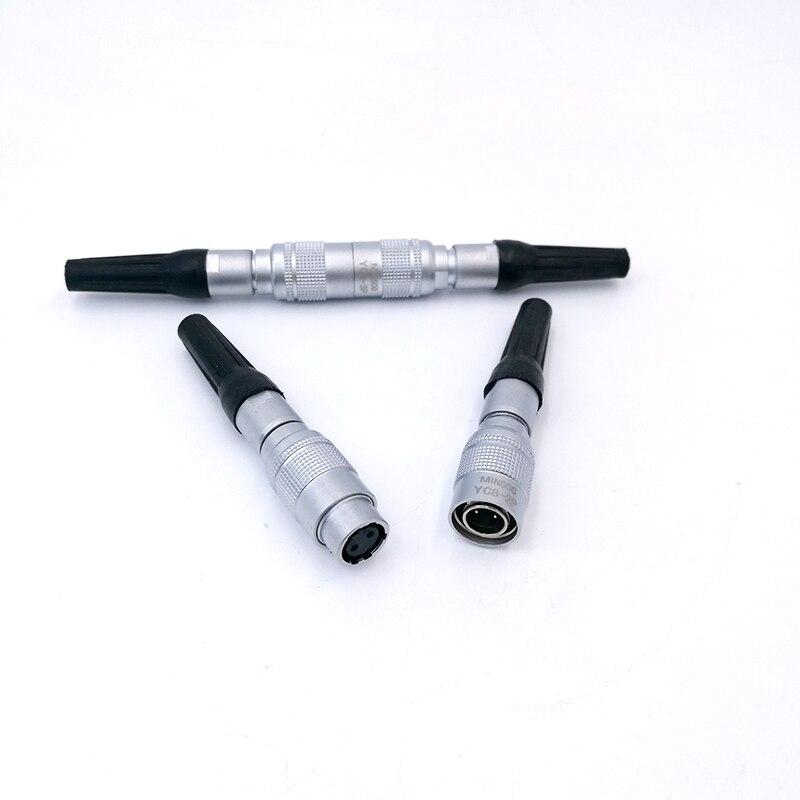 YC8 Mini Circular Connector Docking Sensor Connector Push Pull Self Lock 8mm 2Pin3pin4pin5pin6pin7pin