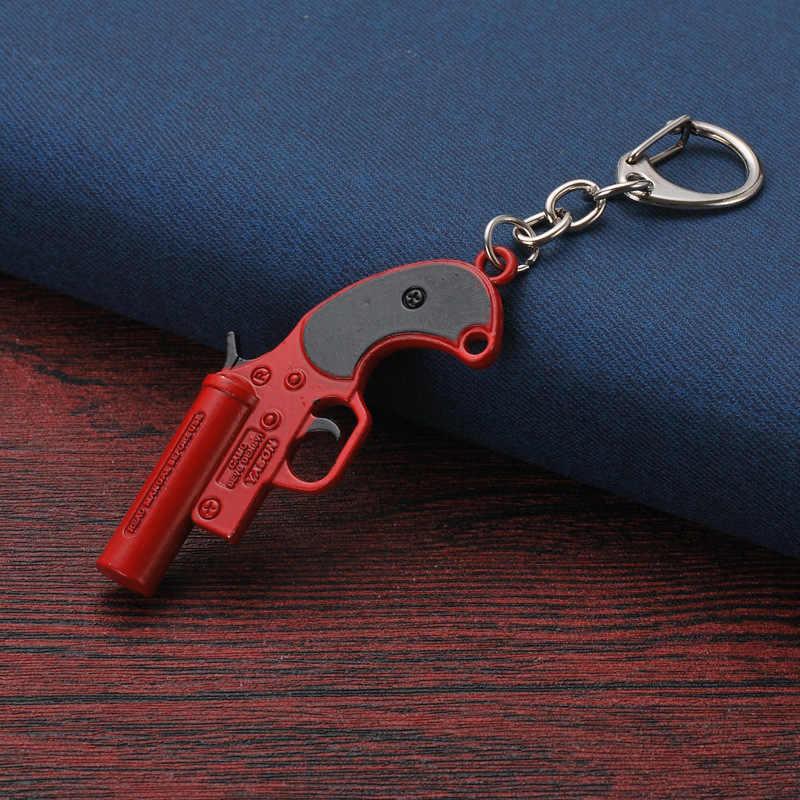 JOYA 2019 erkekler paslanmaz çelik anahtarlık Battlefield Cosplay sahne anahtarlık çocuk oyuncak 98K AWM Mini kolye 10CM erkek arkadaşı hediye