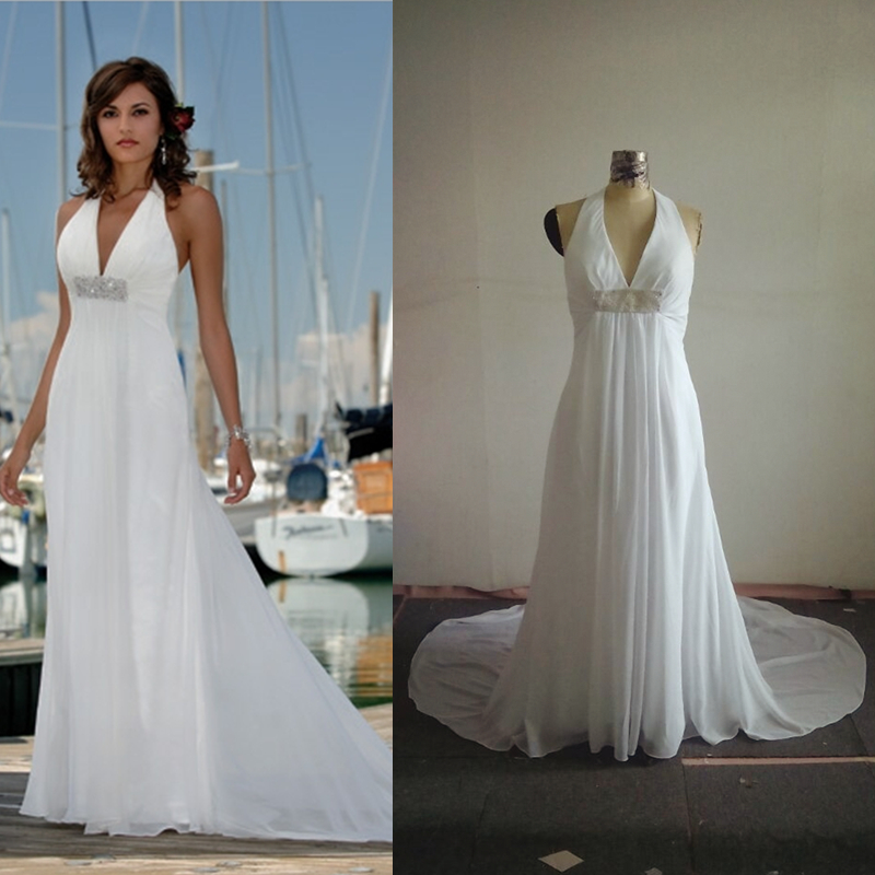 online buy wholesale halter top beach wedding dresses from