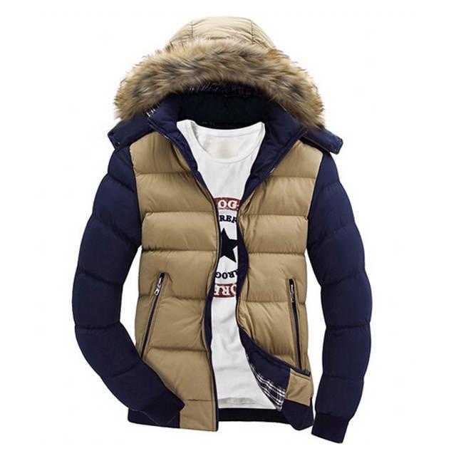 Mountainskin męskie kurtki zimowe gruba bluza z kapturem parki z futrzanym kołnierzem męskie płaszcze na co dzień wyściełane kurtki męskie odzież