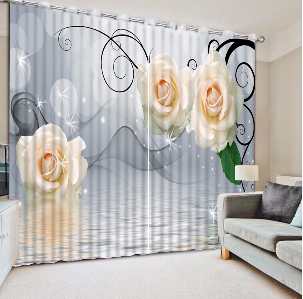 Large 3D Curtain Window The Living room Bedroom Blackout Curtains Drapes Beautiful Rose Wedding Room Curtains DecorLarge 3D Curtain Window The Living room Bedroom Blackout Curtains Drapes Beautiful Rose Wedding Room Curtains Decor