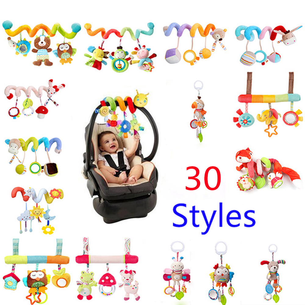 Early Development Soft Infant Crib Bed Stroller Toy Spiral Baby Toys For Newborns Car Seat Hanging Bebe Bell Rattle Gift