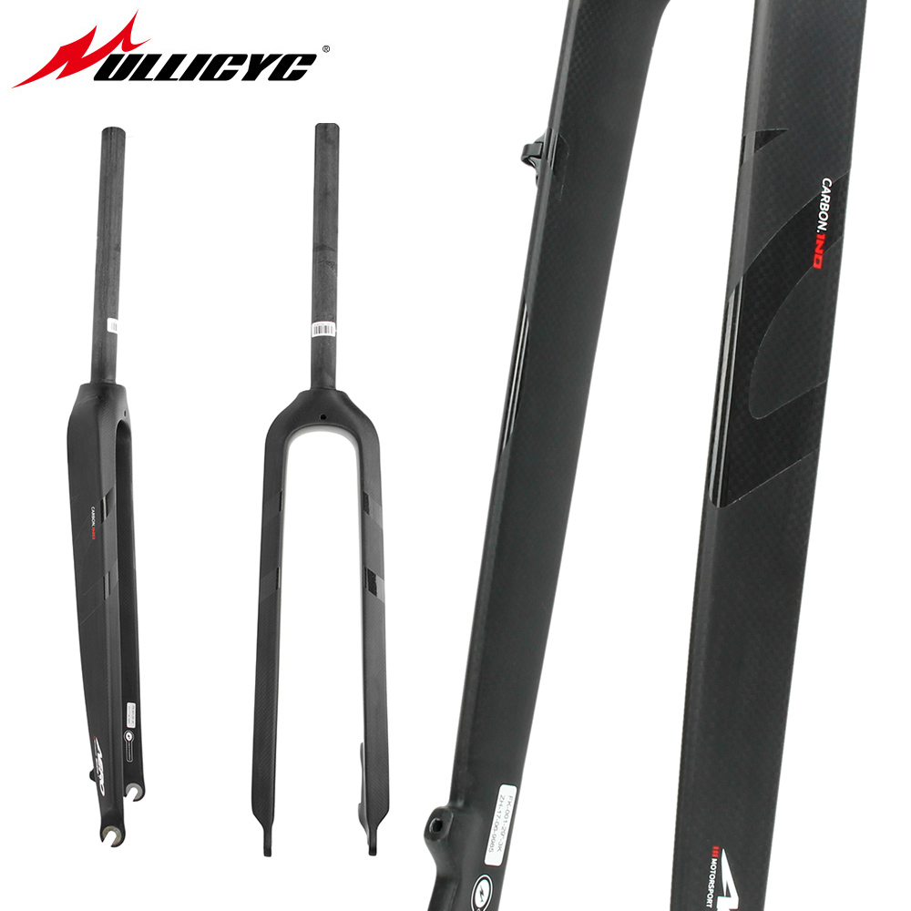 Circular tube type Front fork Superstrong 3K Matte +Gloss logo 26