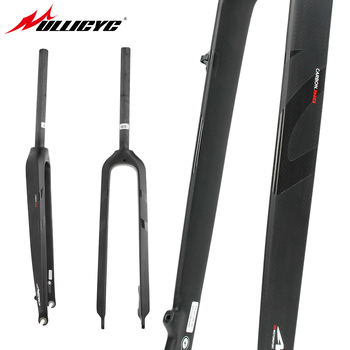 "Circular tube type  Front fork Superstrong 3K Matte +Gloss logo  26""/ 27.5""/ 29""Inch Mountain Bike Full Carbon Front Fork MTB"