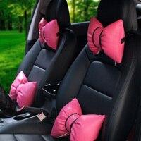 LUNASBORE-universal auto hoofdsteun leuke cartoon auto levert auto-interieur leuke accessoires voor meisje vrouw voor BMW/Ford