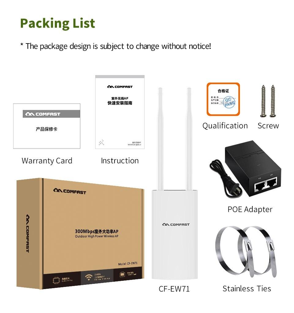 Répéteur Wifi AP Wifi extérieur haute puissance CF-EW71 2.4G 300 Mbps routeur Wifi sans fil double antenne point d'accès Wifi Extender - 6