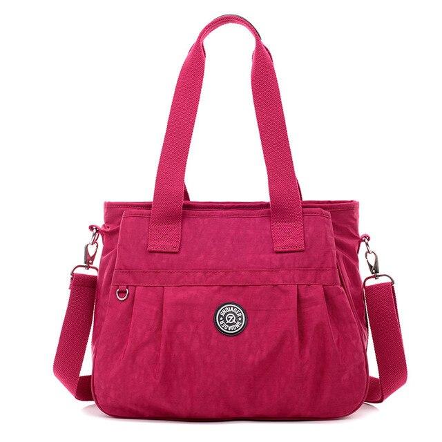 Bolsa de Viagem Nylon impermeável Mulheres Mensageiro Sacos de Grande Capacidade Tote Ocasional bolsa de Ombro Fêmea Sacos de Mão Das Senhoras Sacos Bolsos Mujer W675