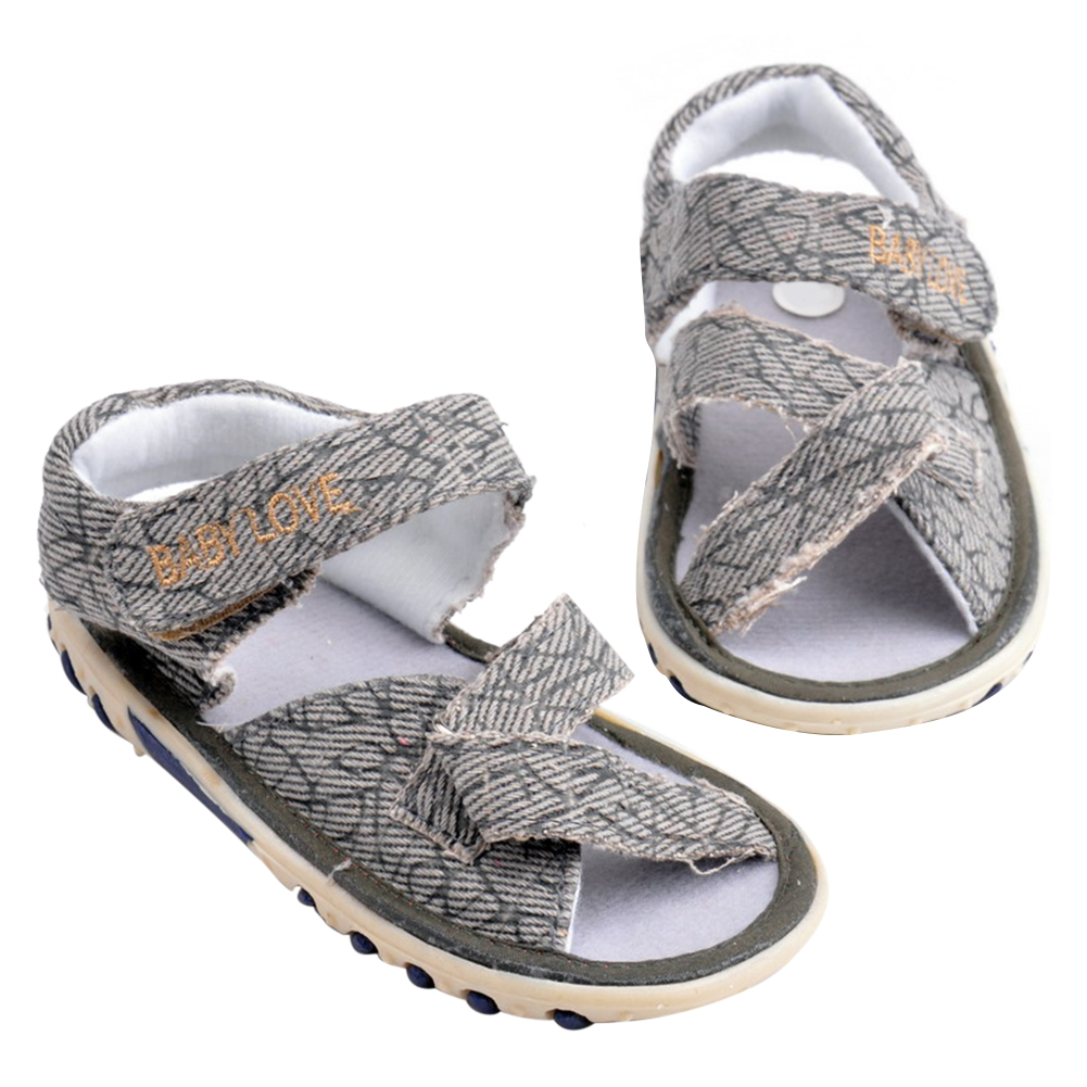 Summer Baby Boys Sandals Newborn Kids Soft Sole Beach Shoes Casual Anti Slip Flat Shoes Infant Toddler Boys Sandals Light coffee