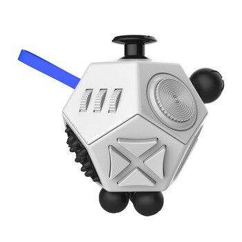 Antistress Cube 2 Mainan Fidget Magic Cube Mainan Anti Stres Quick Mainan Enam Sisi Squeeze Menyenangkan Stres Pereda Mainan untuk dewasa