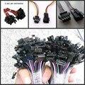 5 pares 2 3 4 Conector jst 5 pinos 2x10 cm 2pin masculino/feminino SM pigtail cabo de Fio para led strip Lâmpada luz Motorista CCTV