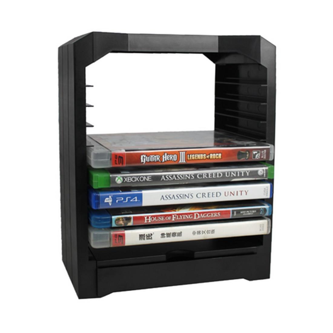 48e45efdd09 Acessórios Caixa Organizador PS4 PS4 HIPSTEEN Durável Chassis Painel de  Suporte De Armazenamento De Disco de Jogos Preto em Ciaxas De Armazenamento    Lixo ...