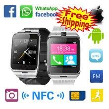 Smart Uhr Aplus GV18 mit Kamera-unterstützung Sim-karte Bluetooth-konnektivität Apple iphone Android Telefon Smartwatch Uhr PK DZ09