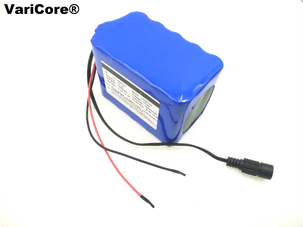 12 V 18650 chronological lithium battery 8000 mah 8 ah coal monitoring battery 12.6 V battery pack image