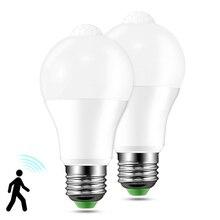 цена на VBS Led Lamp E27 220V PIR Motion Sensor Outdoor/Indoor 12W/18W Waterproof 2835SMD Led Light Bulb Warm White Cool White
