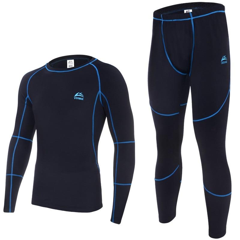 CrazyFit thermal underwear men underwear sets compression sport fleece sweat quick drying thermo underwear men clothing