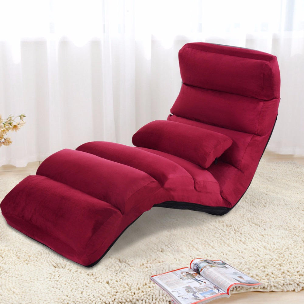 Giantex Folding Lazy Sofa Chair Stylish Sofa Couch Bed Lounge Chair W/Pillow Home Furniture HW53981WNGiantex Folding Lazy Sofa Chair Stylish Sofa Couch Bed Lounge Chair W/Pillow Home Furniture HW53981WN