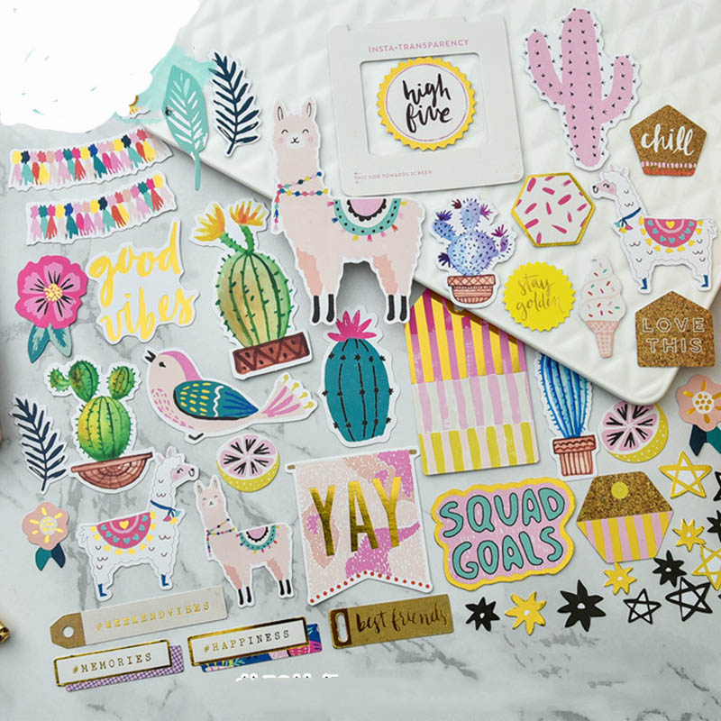 ZFPARTY 50pcs Best Friends Cardstock Die Cuts for Scrapbooking Happy Planner/Card Making/Journaling Project