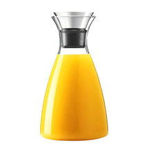 ABFP Glass Drip-Free Carafe With Flip-Top Lid, Hot And Cold Water Pitcher, Tea/Coffee Maker & Cafe, Iced Tea, Beverage P