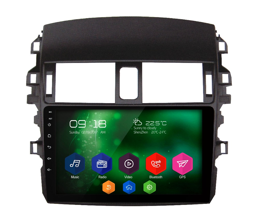 Advanced car multimedia player android 6 0 1 2gb ram 32gb rom car stereo full touch