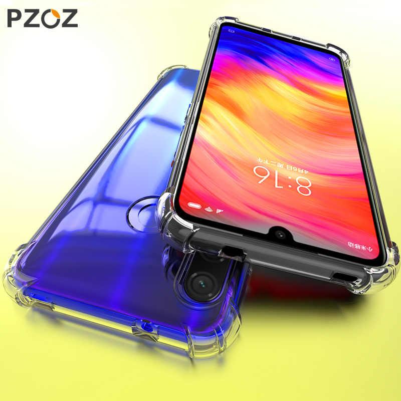 PZOZ For Xiaomi Redmi Note 7 8 7A K20 Pro Mi CC9 A3 Protective Case Redmi Note8 7 Shockproof Silicone TPU Soft Transparent Cover