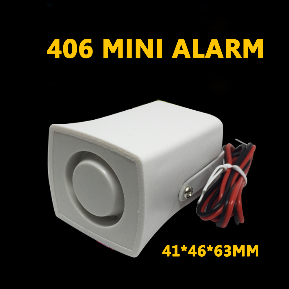 Mini Horn Alarm Siren 105db Sound Alarm DC 12V Wired Indoor Siren For Home House Alarm System