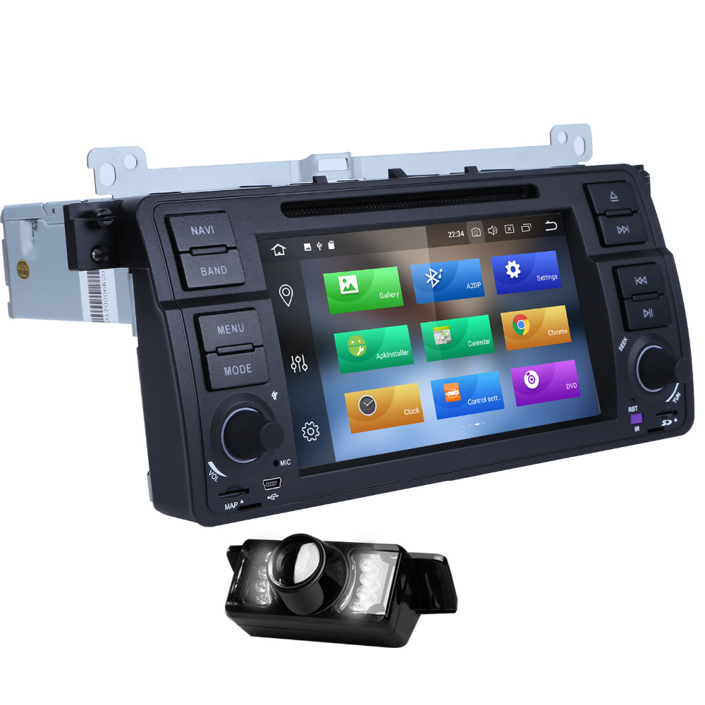 Autoradio 1Din Android 8.0 Car DVD Player Multimedia For BMW E46 M3 gps navigation double din Rover 75 Touring Sedan Coupe MG ZT
