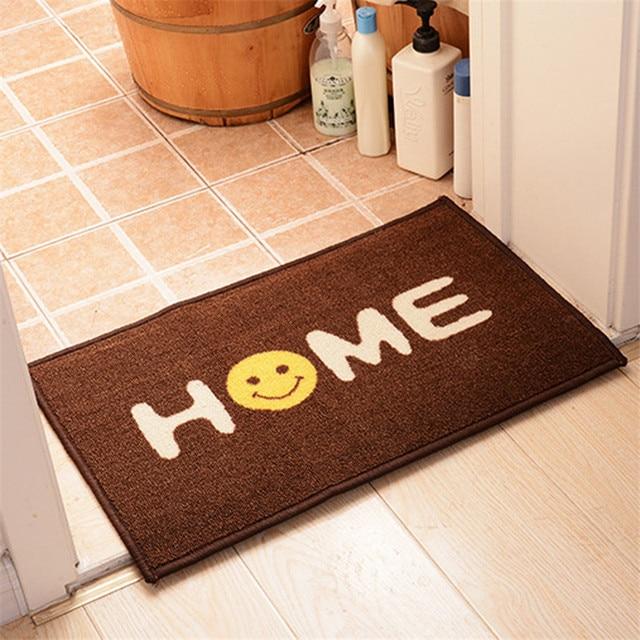 40cm*60cm Coffee Colour Rugs Smiling Rectangle Mats For Bathroom Rug  Anti Slip High