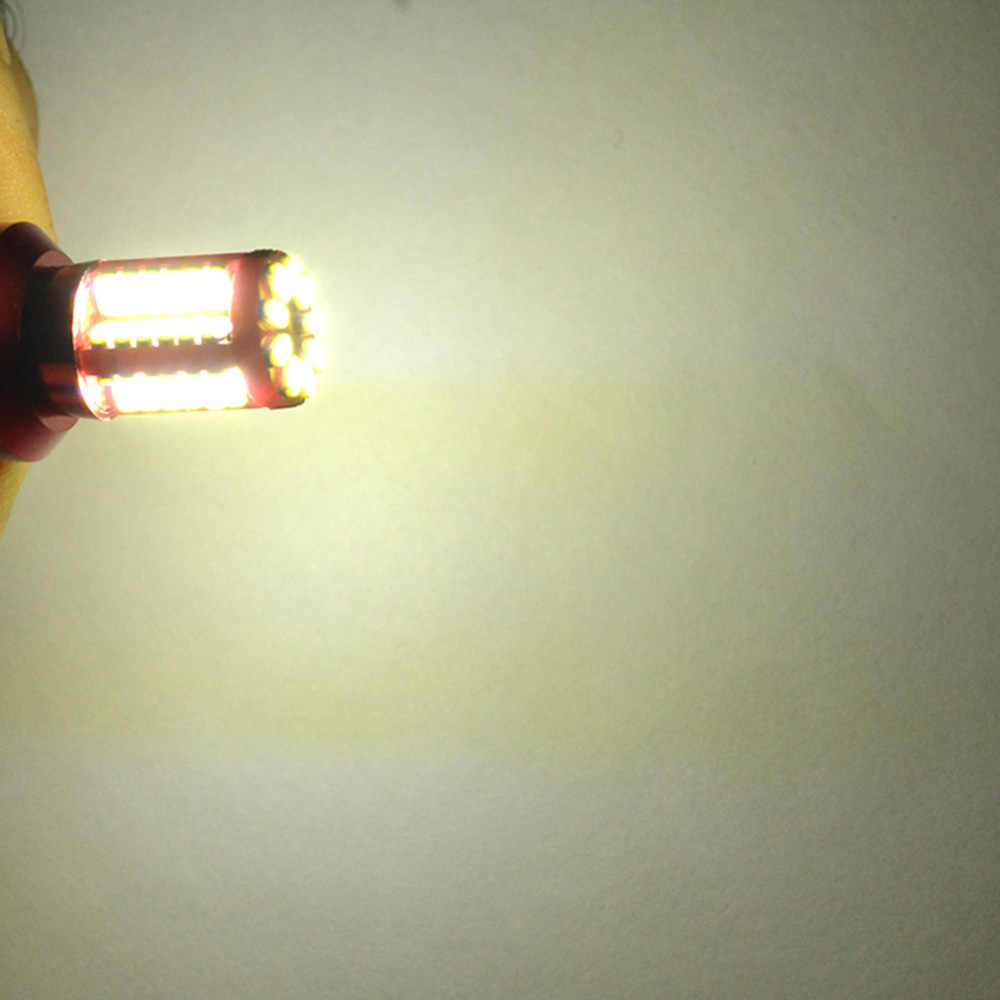 2pcs אורות T20 7440/7443 3014 57SMD LED לבן רכב אור מנורת נורות אור יום