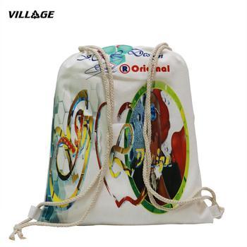 100PCS/lot Custom Canvas Drawstring Backpack Printed Logo 100pcs lot esd5z5 0t1g