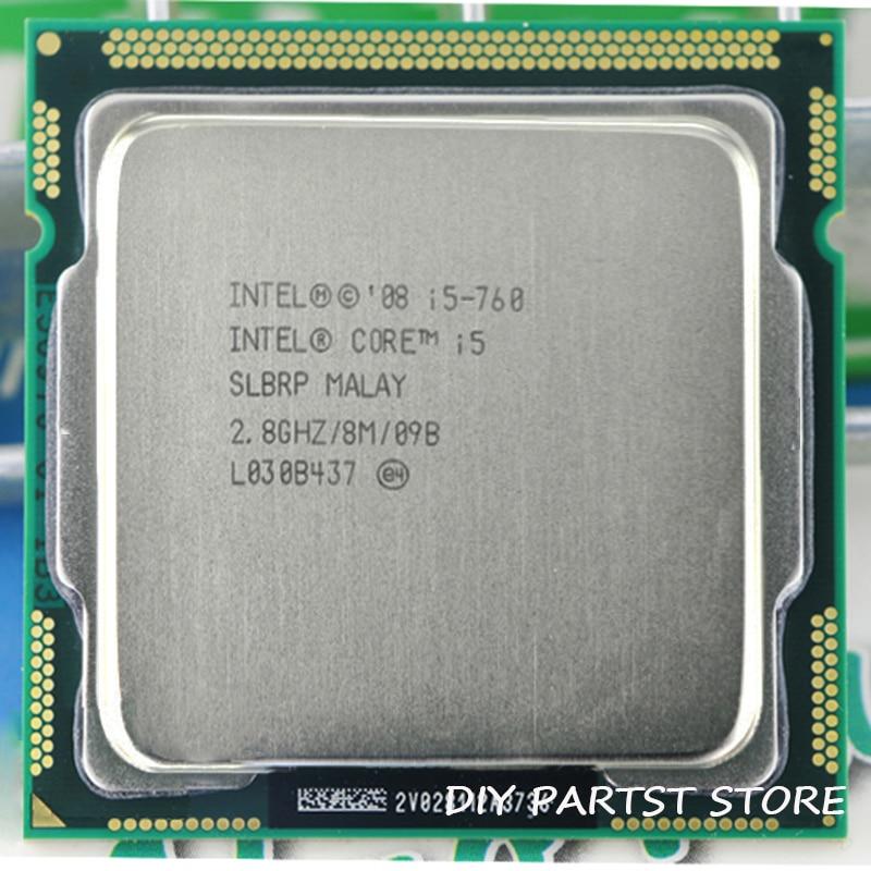 Intel core i5 760 I5-760 2.8 ghz/8 mb soquete lga processador cpu 1156 memória suportada: DDR3-1066, DDR3-1333