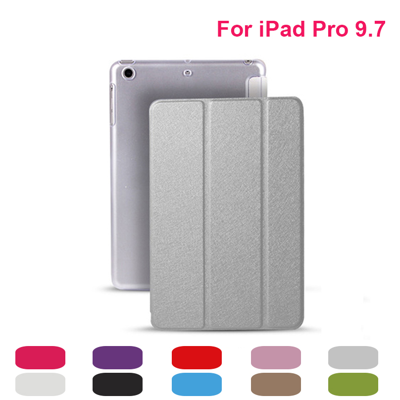 High Quality Solid For Apple iPad Pro 9.7 Cases PU Leather Smart Cover For iPad Pro 9.7 Case Skin Shell Sleep Wake Up Function for ipad mini4 cover high quality soft tpu rubber back case for ipad mini 4 silicone back cover semi transparent case shell skin