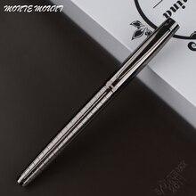 Высокое качество you 856 Делюкс чистый серый Линейный Цвет Бизнес Офис Средний Перо Шариковая ручка новинка