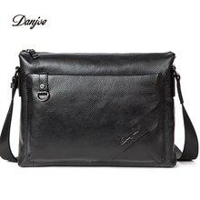 DANJUE Genuine Leather briefcase men Soft Handbag business Style Men Shoulder Bags Brand High Quality Laptop Bag man