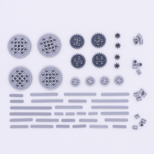 Image 2 - Blocks Technic Parts Bulk Gear Axle Conector Wheels Pulley Chain Link Car Toys Mindstorms compatible Accessories Building Bricks