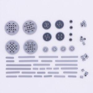 Image 2 - ブロックテクニックパーツギア車軸 conector ホイールプーリーチェーンリンク車のおもちゃマインドストーム互換アクセサリービルディングレンガ