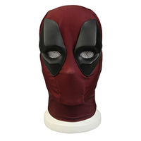Deadpool 2 Cosplay Mask Wade Wilson Mask Dedpul Costume Deuce Submarine Dump of A Daddy Red Headwear Adults Halloween Accessory
