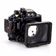 Meikon 40M/130ft Underwater Waterproof Housing Case For Panasonic Lumix LX100 with 27-75mm Lens