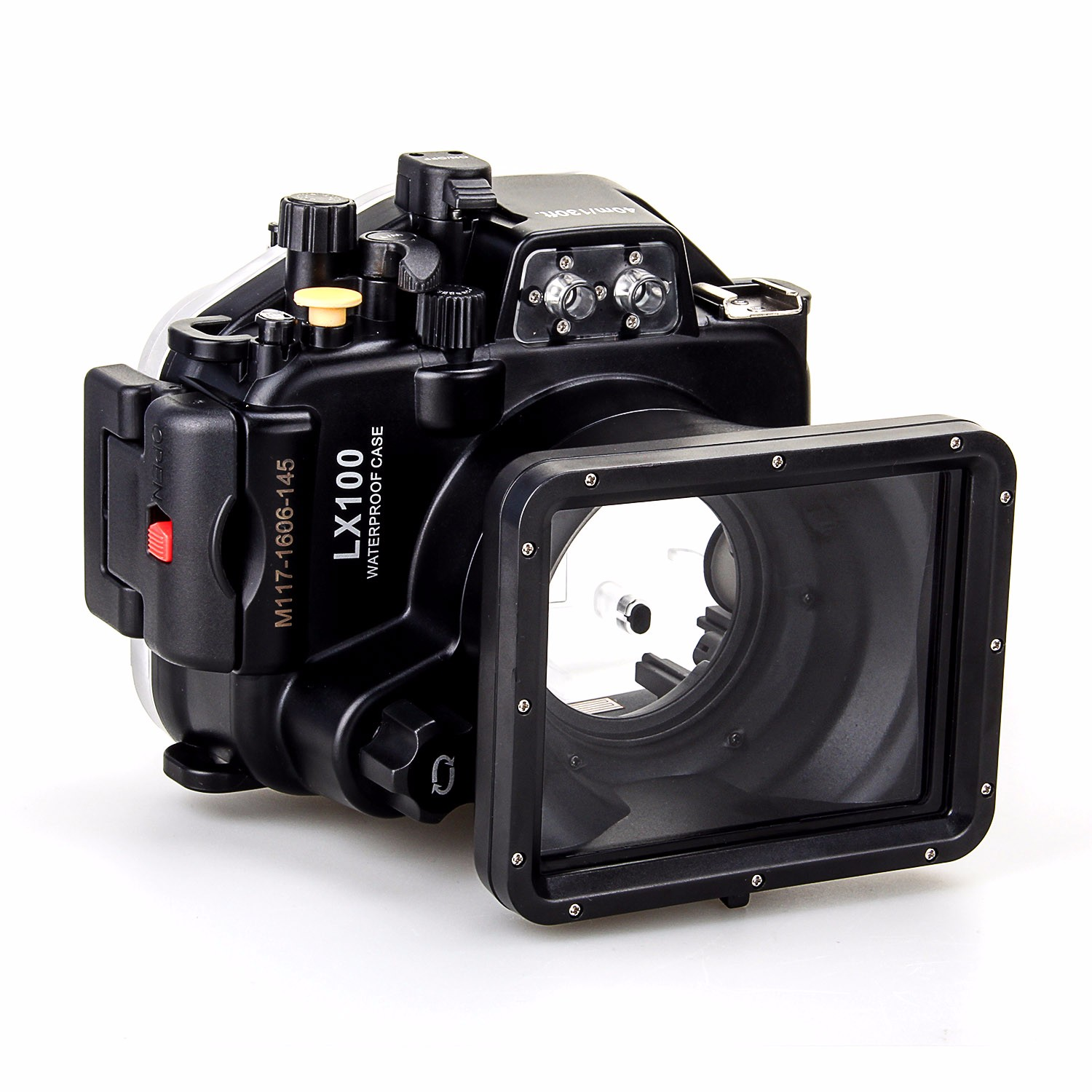 Meikon 40M/130ft Underwater Waterproof Housing Case For <font><b>Panasonic</b></font> <font><b>Lumix</b></font> <font><b>LX100</b></font> with 27-75mm Lens image