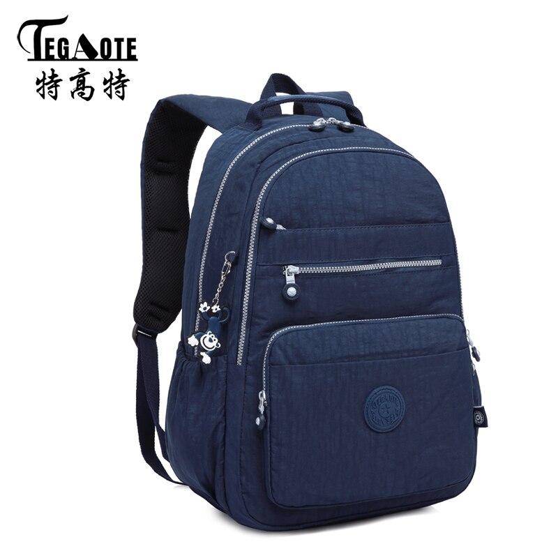 TEGAOTE New Mini Classic Big Children Schoolbags Backpack for Teenage Girls  Boys Nylon Anti theft Backpack ca2d85ef22392