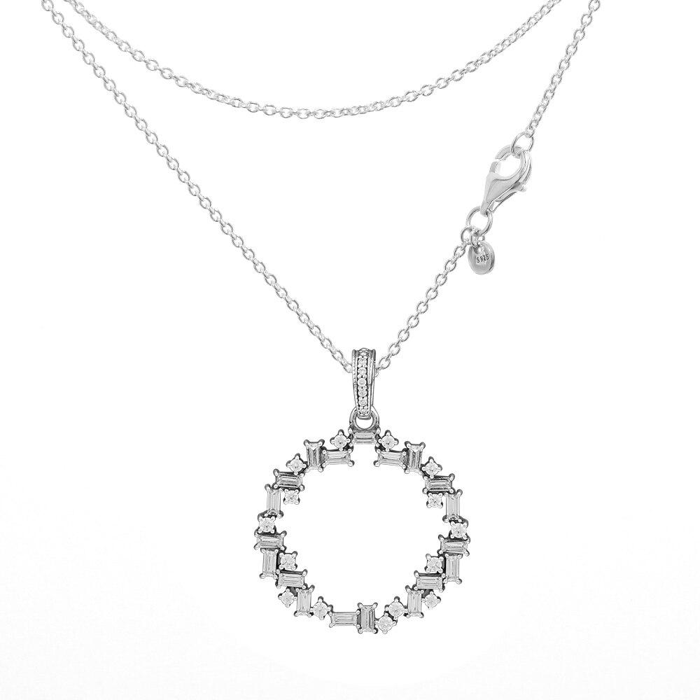 100% Wahr 2018 Winter Aussage Halsketten Für Frauen Klar Cz Kristall Schnee Scherben Halsketten & Anhänger Mode 925 Sterling Silber Schmuck Direktverkaufspreis