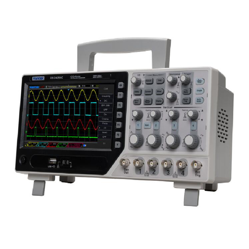 Hantek DSO4104C Digital Storage Oscilloscope 4 Channels 100Mhz PC Osciloscopio Portatil 7Inches LCD Display USB Oscilloscopes image