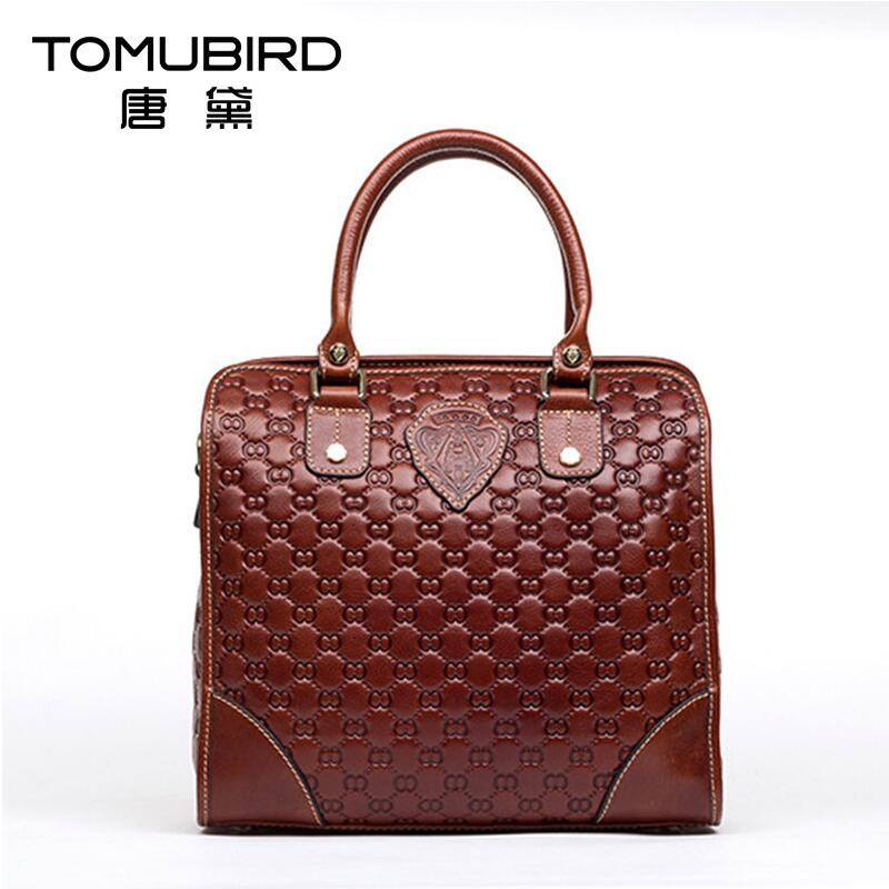 Famous brand top quality Genuine leather women bag 2016 new handbag Fashion Embossed Shoulder Messenger Bag Royal package