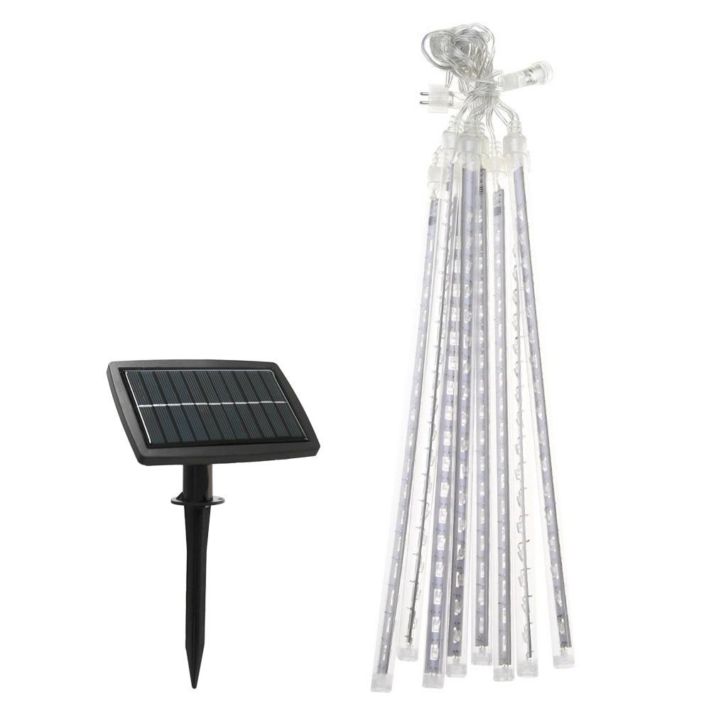 ФОТО Super Biright 50cm 100LM Solar LED Meteor Shower Light Waterproof  Lamp Tube Courtyard Garden Light Chrismas Decoration Lights