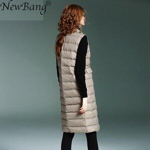 Image 3 - NewBang Brand Womens Long Vest Ultra Light Down Vests Female Sleeveless Windproof Lightweight Warm Long Waistcoat